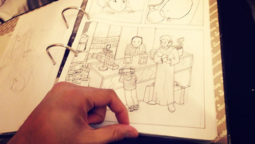 the first page of short comic which never finished