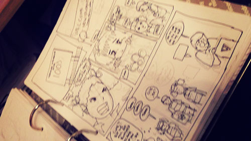 A story board for a comic concept ... never got green light :D I struggle with it anyways
