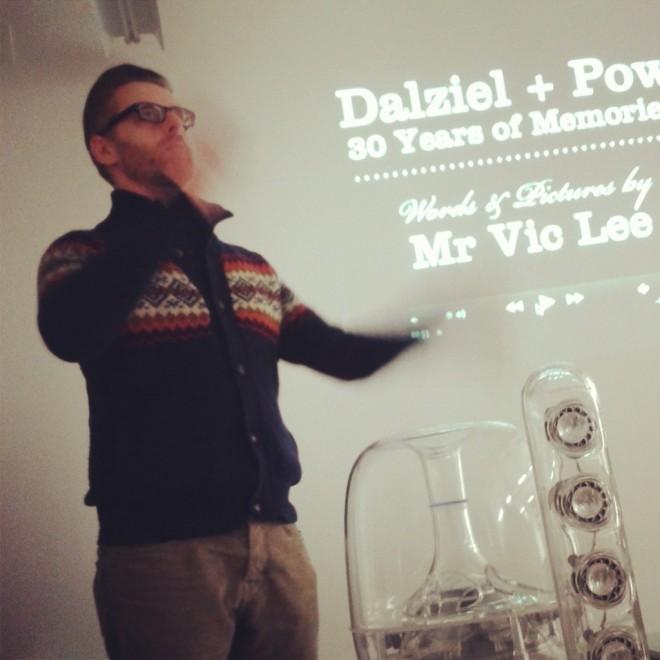 Vic Lee presenting
