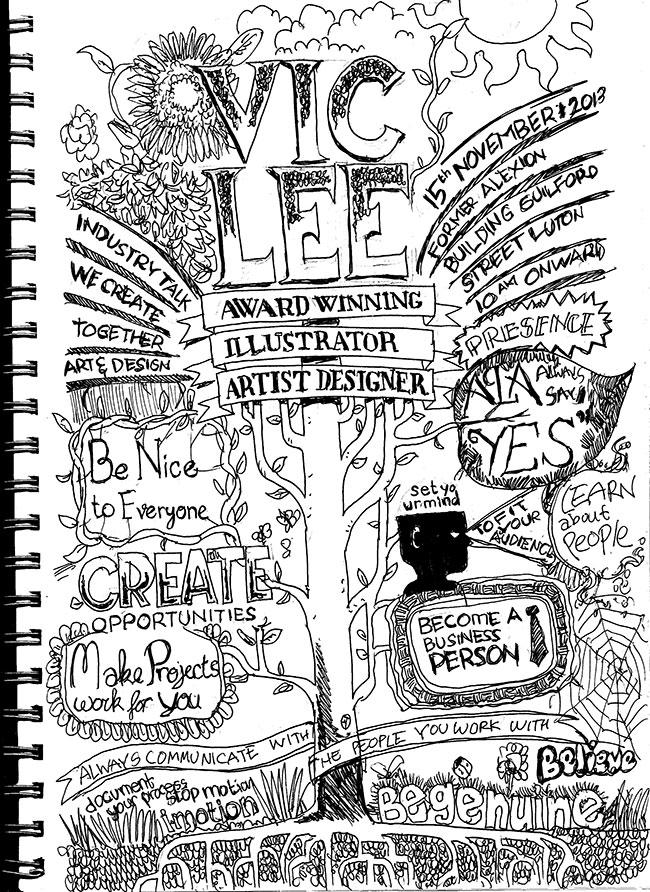 Vic lee Esque illustration