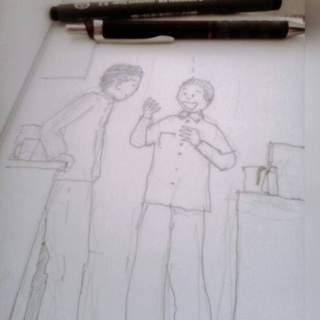 kitchen Chat Sketch