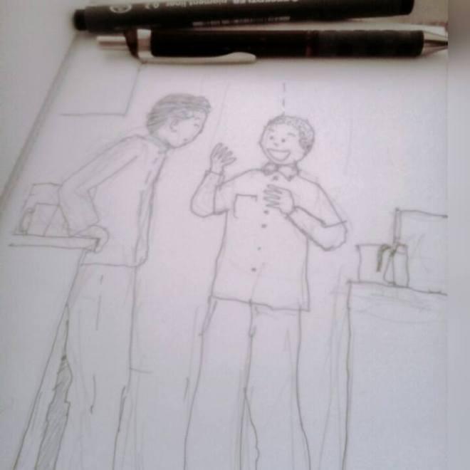 kitchen Chat Sketch